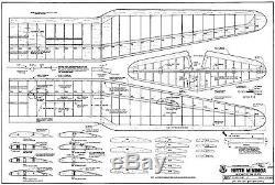 105 wing span Hirth Minimoa R/c Glider/Sailplane short kit/semi kit and plans