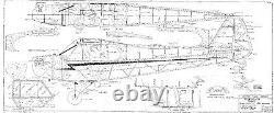 108 wingspan Piper J3 Cub Trainer R/c Plane short kit/semi kit and plans