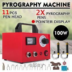 110V 100W Laser Pyrography Machine Gourd Pen Craft Wood Burning Tool Kit Sets