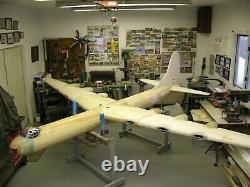 115 wing span Convair B-36H Peacemaker R/c Plane short kit/semi kit and plans