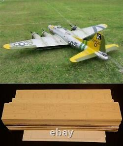 125 in. Wing span B-17 Flying Fortress R/c Plane short kit/semi kit and plans