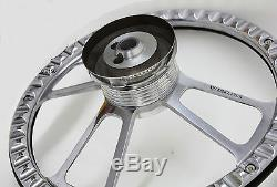 14 Steering Wheel Kit, Wood & Billet, Chevy Horn for Aftermarket GM Columns