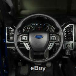 17-20 Ford F250 F350 Molded Black Wood Grain Steering Wheel Bezel Trim Cover