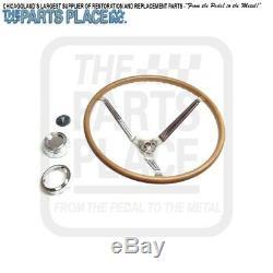 1965-66 GTO Lemans Complete Wood Steering Wheel Kit New