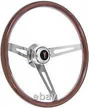 1967-68 Pontiac Firebird/GTO Retro Steering Wheel Kit, Light Wood, Polished Hub