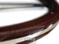 1969 1989 Cadillac S6 Classic Espresso Wood Steering Wheel Kit Non Tele