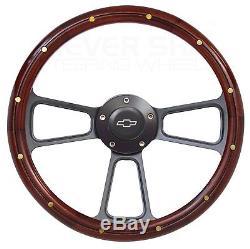 1969-1994 Chevrolet Impala, Caprice Wood Steering Wheel, Horn + Full Adapter Kit