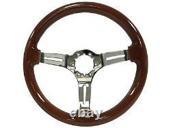 1969 1994 Oldsmobile S6 Sport Mahogany Wood Steering Wheel Kit Rocket Emblem