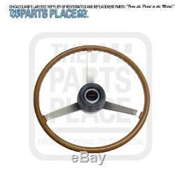 1969 Firebird 1969-72 GTO Lemans Wood Steering Wheel Kit New