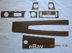 1970-72 skylark GS dashboard and console wood grain trim kit for cars with air