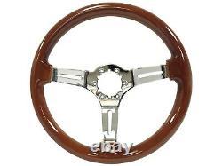 1984 1989 C4 Corvette S6 Wood Steering Wheel Kit, Telescopic