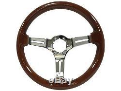 1984 1989 Cadillac S6 Sport Wood Steering Wheel Kit Telescopic Hub Adapter