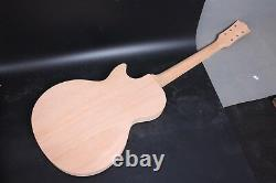 1Set Guitar Kit Mahogany Wood Guitar Body Guitar Neck 22fret Semi Hollow Body