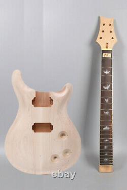 1set guitar Kit 22 fret Guitar neck 24.75inch Body Maple Mahogany Wood Set in
