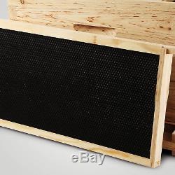 20 Frame Complete Box Kit 10 Deep 10 Medium Honey Keeper Brood Beehive Beekeeper