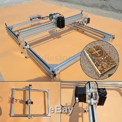 2500mW Mini Laser Engraving Cutting Machine Wood Printer 40X50CM Area DIY Kit