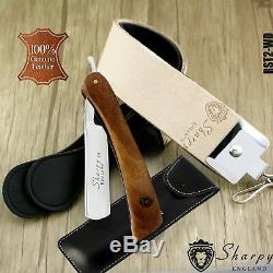 2 Pieces Men's Shaving Kit With Cut Throat Razor, Sharping Strop & Pouch for Him