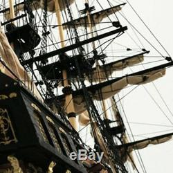 32'' Assembly Model Black Pearl Ship DIY Kits Wooden Sailing Boat Decor Toy Gift