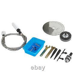 350W 220V Jewelry Rock Saw Gem Polishing Machine Polisher Wheel Table Saw Kit US