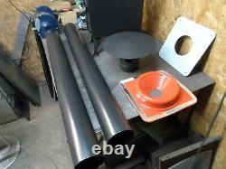 3Kw woodburning stove and flue kit ideal for small spaces, shepherd hut, camper