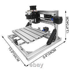 3 Axis CNC 2418 Router Kit DIY Wood PVC Plastic Carving Milling RGBL Control PCB