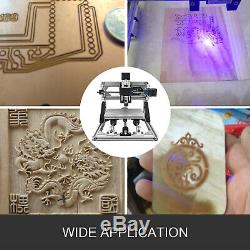 3 Axis CNC Router Kit 3018 2500MW For Wood Injection Molding Material Engraver