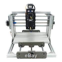 3 Axis DIY CNC Router Kit Metal Engraving Wood PCB Milllng Machine+5500mW Laser