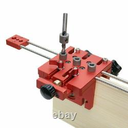 3 in 1 Hole Doweling Jig Kit Woodworking Wood Drill Locator Guide Tool Kit