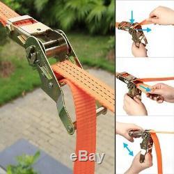 40ft Kids Hanging Sling Ring Swinging Obstacle Slackline Monkey Bars Kit Garden