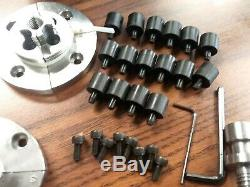 4 wood lathe chuck kit w 5 sets jaws of different sizes 1x8TPI mounting 0404WD