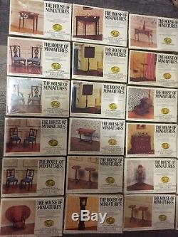 51 House of Miniatures Vintage Dollhouse Furniture Kits NEW IN BOX Lot SEALED