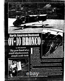 52 wing span OV-10 BRONCO R/c Plane short kit/semi kit and plans