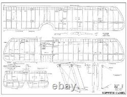 56 wingspan Sopwith Camel R/c Plane short kit/semi kit and plans