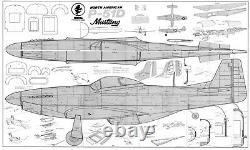 64 Ws P-51D MUSTANG R/c Plane partial kit/short kit and plans, PLS READ