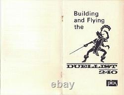 67 wing span Duellist 240 R/c Plane short kit/semi kit and plans