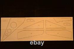 74 in. Wing span AR-1 R/c Glider Plane short kit/semi kit and plans