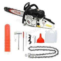 75cc Heavy Duty Petrol Chainsaw Saw Cutter 20'' Bar & Chains Kit Gasoline Wood
