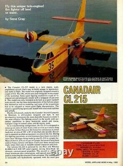 76 in. Wing span CANADAIR CL-215 R/c Plane short kit/semi kit and plans