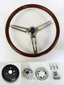 78-91 Ford Bronco F100 F150 F250 F350 Wood Steering Wheel High Gloss Grip 15