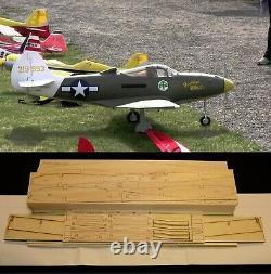 80.5 wingspan Bell P-39J Airacobra R/c Plane short kit/semi kit and plans