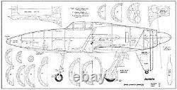 80 wingspan J7W1 Shinden R/c Plane short kit/semi kit and plans