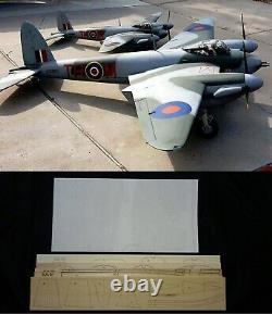 82 wing span De Havilland Mosquito PRXVI R/c Plane short kit/semi kit and plans