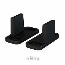 8FT Carbon Steel Sliding Wood Barn Door Hardware Kit Track Set Black