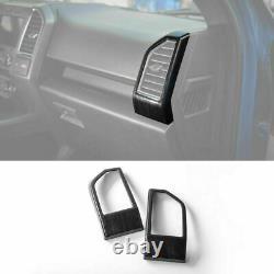 8PCS Full Set Interior Frame Trim Cover Kit For Ford F150 2015+ Black Wood Grain