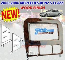 95-8726w Mercedes-benz S Class 1998-2006 Double Din Dash Kit Cherry Wood Finish