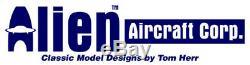 Alien Aircraft 42 Inch Piper J3 J-3 Laser Cub Balsa Wood RC Airplane Kit