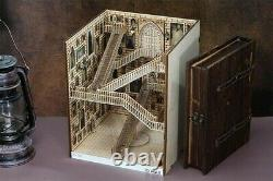 Alley Book Nook Book Shelf Insert Bookcase with Light Model Building Kit