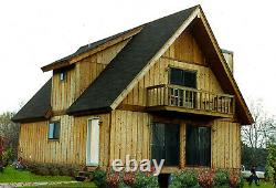 Alpine I & II 24 x 36 Customizable Shell Kit Home, delivered ready to build