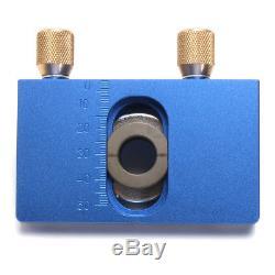Aluminium Alloy Dowelling Jig Set Jig Wood Dowel Drilling Position Jig Cam Kits