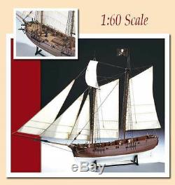 Amati Pirate schooner ADVENTURE wood model ship KIT NEW blackbeard